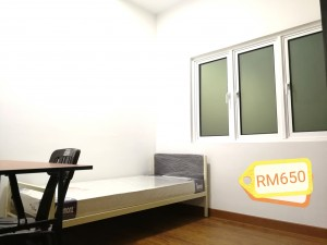 Medium small room to rent out for RM 650 include utilities and fully furnished