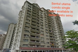 Sentul Utama Condominium single room for rent in Sentul
