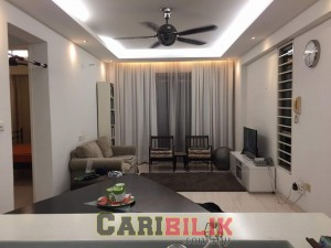 FF+Renovated Perdana Emerald Block 3, Damansara perdana For Rent
