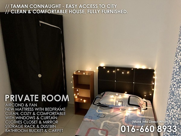 Single Room to let Taman Connaught