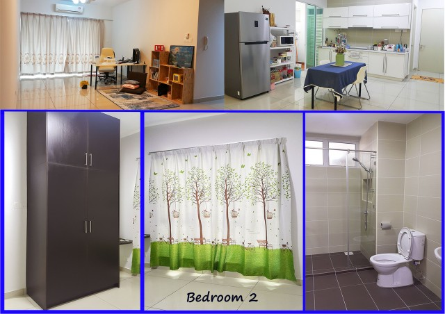 Middle room with private bathroom at 288 residence at kuchai lama