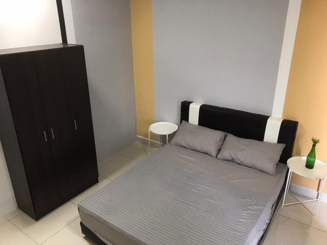 Fully Furnished Air Cond Big Room with Balcony!!! Next to MRT!!! Now Promo at Only RM950!!!