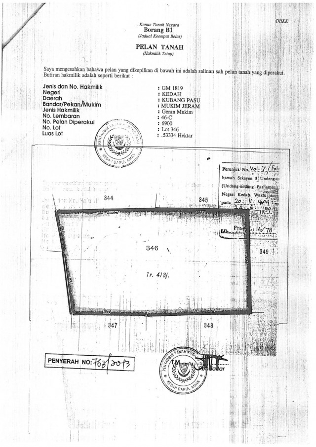 residential land to let in jitra